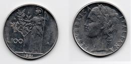 100 Lire – Italie – 1981 – Minerve – Acier – Etat TTB – KM 96.1 - 1946-… : Republic