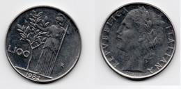 100 Lire – Italie – 1982 – Minerve – Acier – Etat TTB – KM 96.1 - 1946-… : Republic