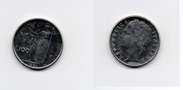100 Lire – Italie – 1991 – Minerve – Petit Format - Acier – Etat TTB – KM 96.2 - 1946-… : Republic