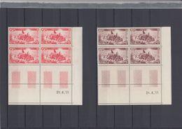 S.Vietnam 1955 Refugees Block X4 With Coin Dates Sc#30-31 MNH Luxe (White Gum) - Vietnam