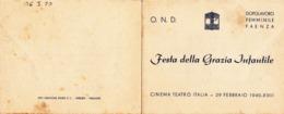 Faenza, Biglietto Festa Delle Grazie Infantili. 1940 - Eintrittskarten