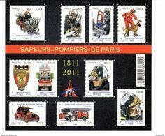 Bloc Timbre Français Les Sapeurs Pompiers De Paris N° 4582 - Ungebraucht