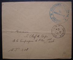 Amiens 1939 Cachet Nouvel Hôpital Le Médecin Chef Sur Lettre Pour Le S.P. 214 - Marcophilie (Lettres)