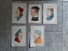 5 Images  Jeu Deux Portraits Dans Un Seul - Old Paper