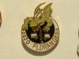 Pin's KARATE - DOJO FLORANGEOIS - FLORANGE - DRAGON - Pin's