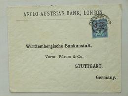 GREAT BRITAIN / UK / ENGLAND > GERMANY // Cover 1897(?), 21/2p QV Jubilee, LONDON > STUTTGART // PERFINS - Storia Postale
