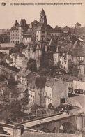 Uzerche19 (1561)  Château Pontier,Eglise Et Ecole Superieure - Uzerche