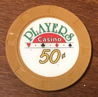 USA CALIFORNIE VENTURA PLAYERS CASINO CHIP 50C JETON TOKEN COIN - Casino