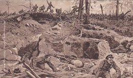 AK Eroberung Englischer Stellungen Bei Ypern - Dt. U Engl. Soldaten - Patriotika - Feldpost Inf. Rgt 179 - 1916 (51525) - Weltkrieg 1914-18