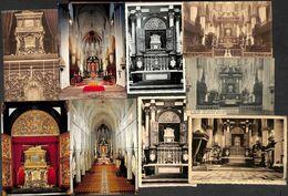 Malines - Mechelen -  Lot 9 Verschillende Kaarten Middenbeuk En Hoogkoor St Romboutskathedraal - Mechelen