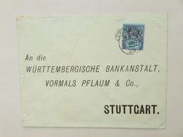 GREAT BRITAIN / UK / ENGLAND > GERMANY // Cover 1897, 21/2p QV Jubilee, LONDON > STUTTGART // PERFINS - Storia Postale