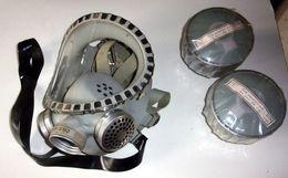 Masque À Gaz Fernez Din-3182 Vintage + 2 Cartouches - Altre Collezioni