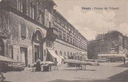 PERUGIA-PALAZZO DEI TRIBUNALI-CARTOLINA NON VIAGGIATA -ANNO 1915-1925 - Perugia