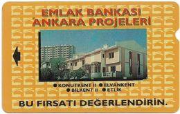 Turkey - TT - Alcatel - R Adert. Series - Emlak Bankasi, Ankara Evleri, R-005, 60U, 1994, 292.167ex, Used - Turquie