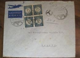 Nederland 1950 SURABAJA Malang Indonésie Hollande Indes Orientales Per Luchtpost Cover - Niederländisch-Indien