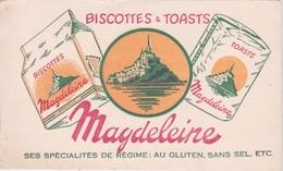 BUVARD - BISCOTTES ET TOATS - MAGDELEINE  - LE MONT ST MICHEL - Biscottes
