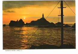 UK - Jersey - Corbiere At Sunset - Lighthouse - Nice Stamp Timbre - Jersey