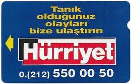 Turkey - TT - Alcatel - R Advert. Series - Hurriyet Lider Gazete, R-13, 30U, 1994, Used - Turquie
