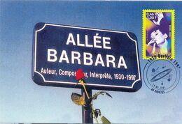 Carte Postale 1er Jour Barbara (yt 3396) - Nantes