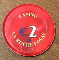 86 LA ROCHE-POSAY CASINO JETON DE CASINO DE 2 EURO N° 01303 CHIP TOKEN COIN - Casino