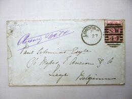 ENGLAND / GREAT BRITAIN / UK > BELGIUM - Cover 1874, QV Issue, LONDON > LIÈGE - Storia Postale