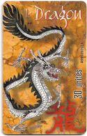 French Polynesia - OPT - Year Of The Dragon - Gem1A Symmetr. Black, 02.2000, 30Units, 100.000ex, Used - Polinesia Francese