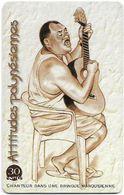 French Polynesia - OPT - Chanteur Dans Bringue - Gem1B Not Symm. White/Gold, 04.2000, 30Units, 70.000ex, Used - Polinesia Francese