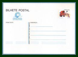 Portugal Bilhete Postal Stationery Entier Felicidades 1989  Automobile Camion Car - Postal Stationery