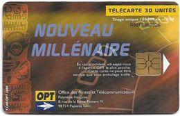 French Polynesia - OPT - Nouveau Millénaire #1 - Gem1A Symmetr. Black, 12.2000, 30Units, 100.000ex, Used - Polinesia Francese
