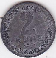 CROATIA  --  NDH  --  NEZAVISNA DRZAVA HRVATSKA  --  2 KUNE  --  1941 - Kroatien