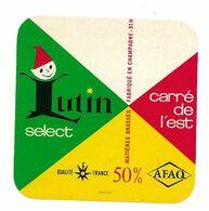 ETIQUETTE De FROMAGE..CARRE De L'EST Fabriqué En CHAMPAGNE (51-H) ..LUTIN Select - Fromage