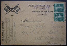 Belfort 1914 172e Régiment D'infanterie, Troupes En Campagne Carte Postale Militaire Pour Le Locle (Suisse) - Marcofilie (Brieven)