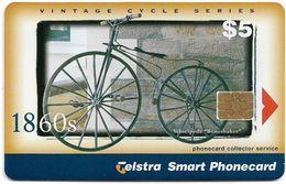Australia - Telstra (Chip) - P Series 1999 Vintage Bicycles - Velocipede, Exp. 04.2001, 5$, 800ex, Used - Australië