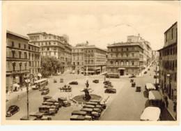 1941- Cartolina Illustrata Roma Piazza Barberini Affrancata 10c. Imperiale, Bolli Della 12esima Giornata Filatelica Nazi - Roma (Rome)