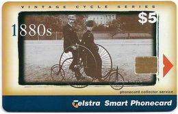 Australia - Telstra (Chip) - P Series 1999 Vintage Bicycles - Tandem Tricycle, Exp. 04.2001, 5$, 800ex, Used - Australië