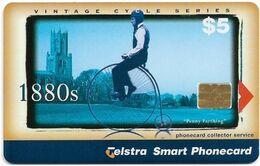 Australia - Telstra (Chip) - P Series 1999 Vintage Bicycles - Penny Farthing, Exp. 04.2001, 5$, 800ex, Used - Australië