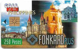 Philippines - PLDT (Chip) - Old Churches - Exp.30.06.1999, Chip Gem2 Black, 250₱, Mint - Filippine