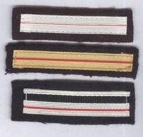 Lot De 3 Grades De Poitrine - Adjudant Et Major - Armée Française - Scudetti In Tela