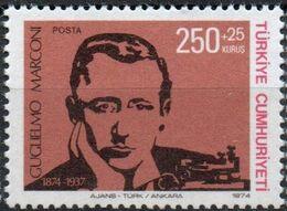 Turkey 1974 Birthday Marconi 1 Value Mi 2341 MNH 2008.08378 - Telecom