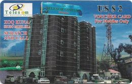 Somaliland - Telesom - Hargeisa Building 2$ GSM Refill, Used - Somalie