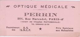 BUVARD - OPTIQUE MEDICALE PERRIN 201 RUE MARCADET PARIS 18 °  FOURNISSEUR SNCF - Produits Pharmaceutiques