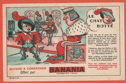 Rare Buvard 1935 Banania Le Chat Botté Illustré Par Baille Hache - Alimentaire
