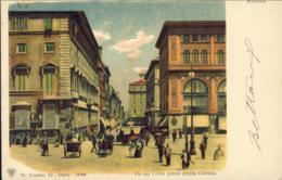 1899-Roma Via Del Corso Presso Piazza Colonna, Cartolina Viaggiata - Roma (Rome)