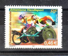 Francia - 2002.  Mondiali Di Disabili In Carrozzina. Hathletisme Handisport Championship. MNH - Handisport