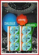 INDONESIA 2001 MS PRISMA DIALOGUE DIALOGO DIALOG AMONG CIVILIZATIONS CIVILISATIONS JOINT ISSUE MNH - Emisiones Comunes
