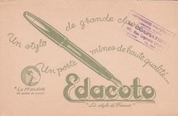BUVARD - EDACOTO -  UN STYLO DE GRANDE CLASSE UN PORTE-MINE DE HAUTE QUALITE - Papierwaren