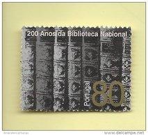 TIMBRES - STAMPS - PORTUGAL - 1996 - 200 ANS DE LA BIBLIOTEQUE NATIONALE - TIMBRE OBLITÉRÉ - 1910-... República