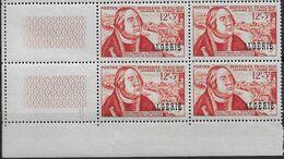 1956 Algérie N° 333  Nf** MNH . ( Bloc De 4) François De Tassis. - Algeria (1924-1962)