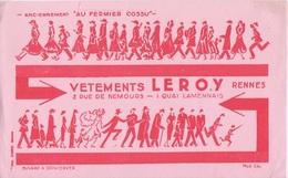 BUVARD - LEROY RENNES ANCIENNEMENT AU FERMIER COSSU  - VETEMENT HABILLEMENT - Vestiario & Tessile
