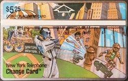 Telefonkarte USA - New York Telephone - Sport - Baseball - Skateboard - 307A - Vereinigte Staaten